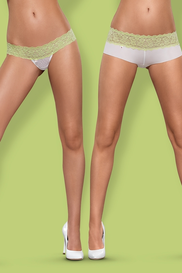 Dámské kalhotky a tanga Lacea 2pack green - S/M - bílá-zelená