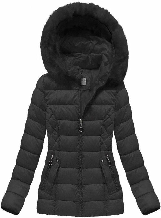 Černá dámská zimní bunda (B1035-30) - S (36) - černá