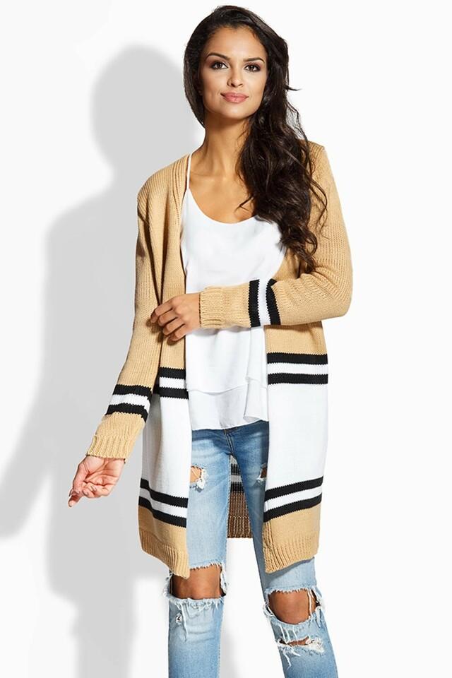 Přehoz přes oblečení Envy Me EM604 - UNI - bílá-karamel