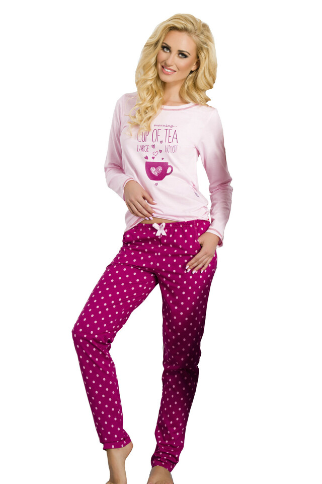 Dámské pyžamo Sára malinové - XL