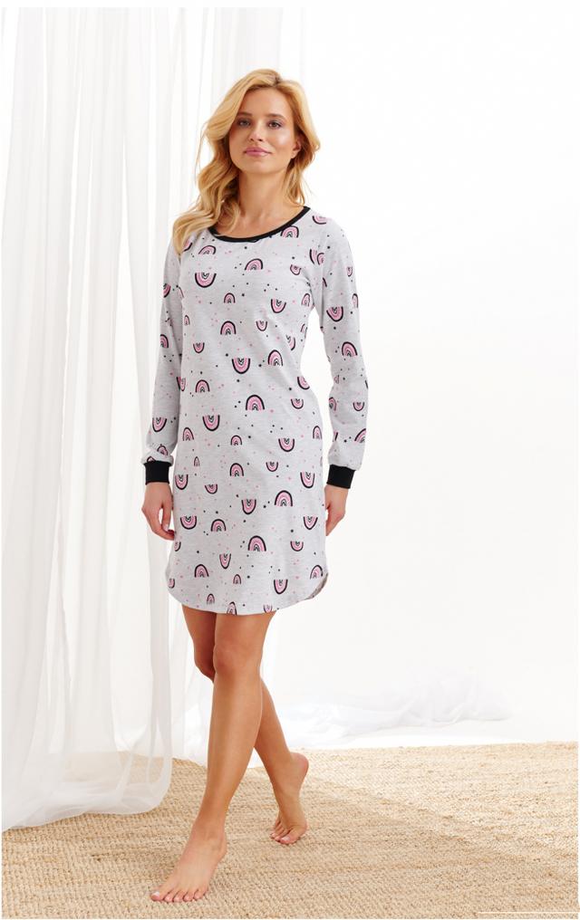 Dámská noční košile Taro Nora 2116 dł/r S-XL Z'20 - S - šedá