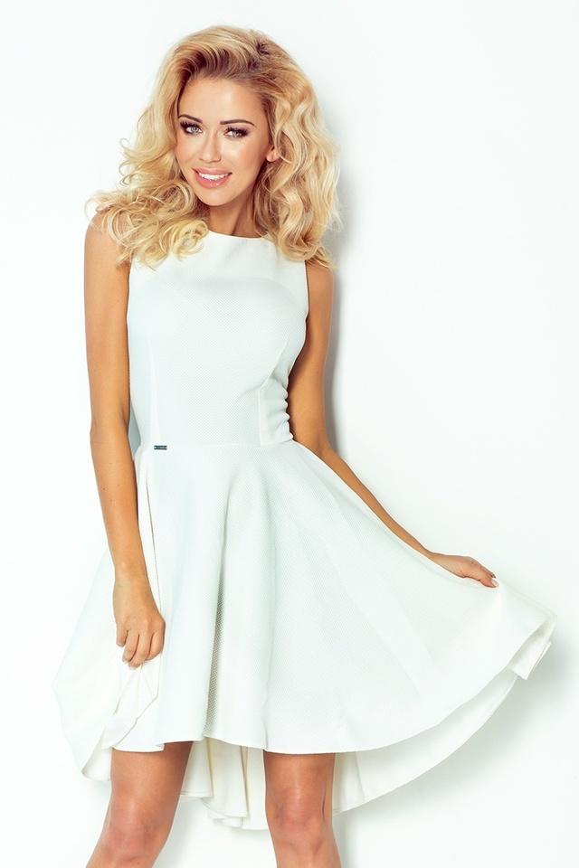 Dámské šaty 66-7 - XL - krémová