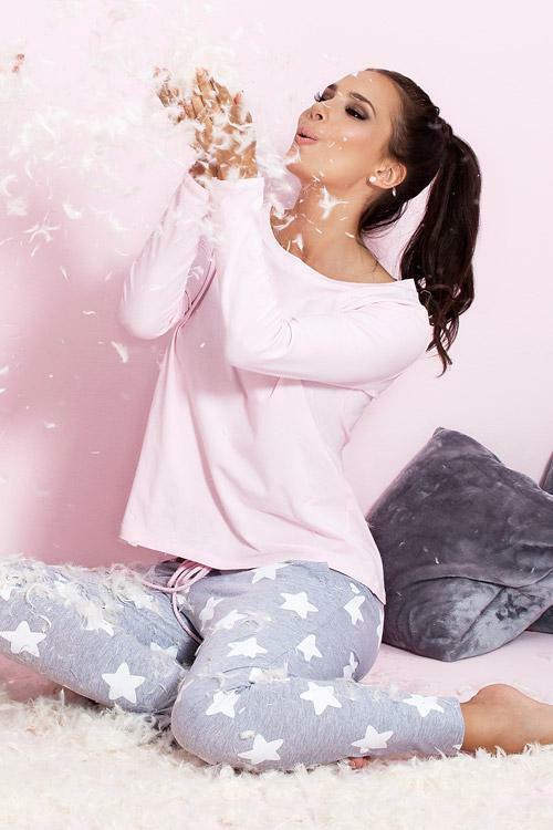 Dámské pyžamo Pigeon P-504/1 pink - M - růžová