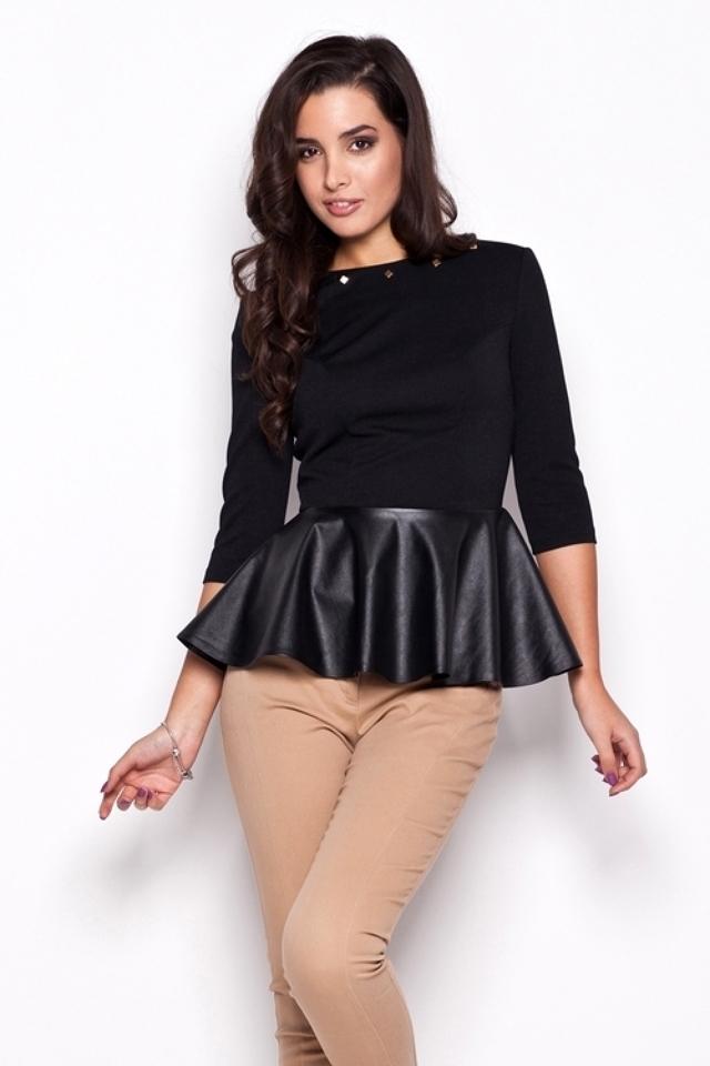 Dámská košile K073 black - KATRUS - M - černá