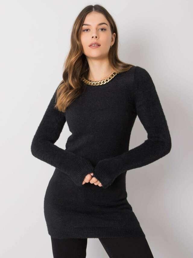 Dámský černý dlouhý svetr - jedna velikost
