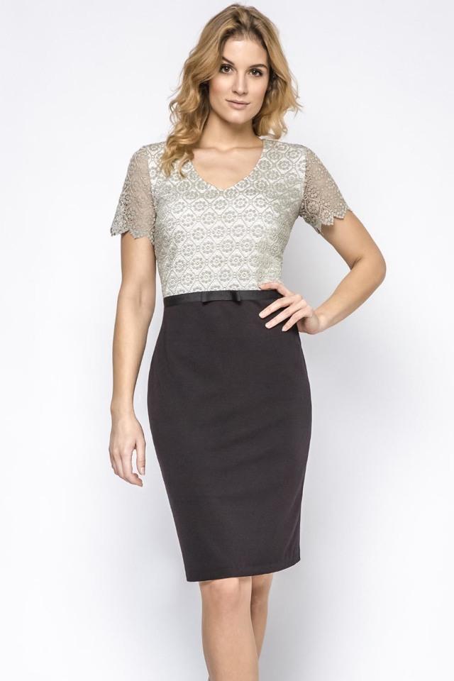 Dámské šaty Ennywear 230202 - 36 - černá šedá