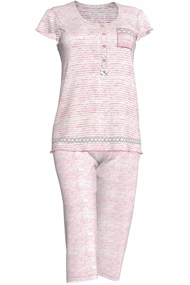 Dámské pyžamo 3086 - Vamp - S - růžová proužky