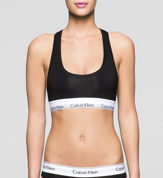 Podprsenka sportovní Bralette Modern Cotton F3785E001 černá - Calvin Klein