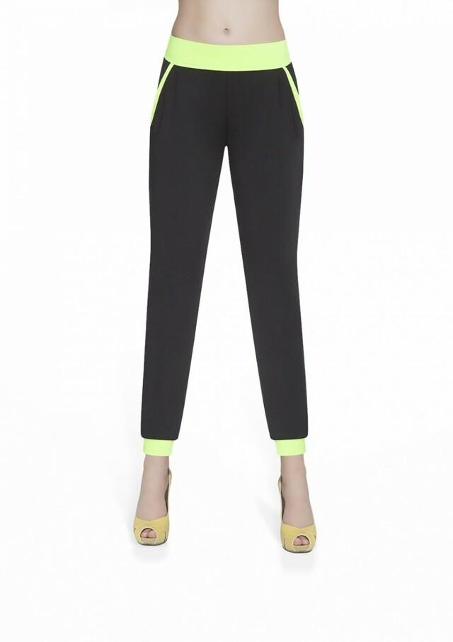Dámské sportovní kalhoty Hannah green - S - černá-zelená