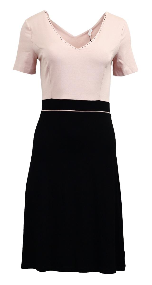 Šaty Chesa kr. - Favab - L - černo-růžová