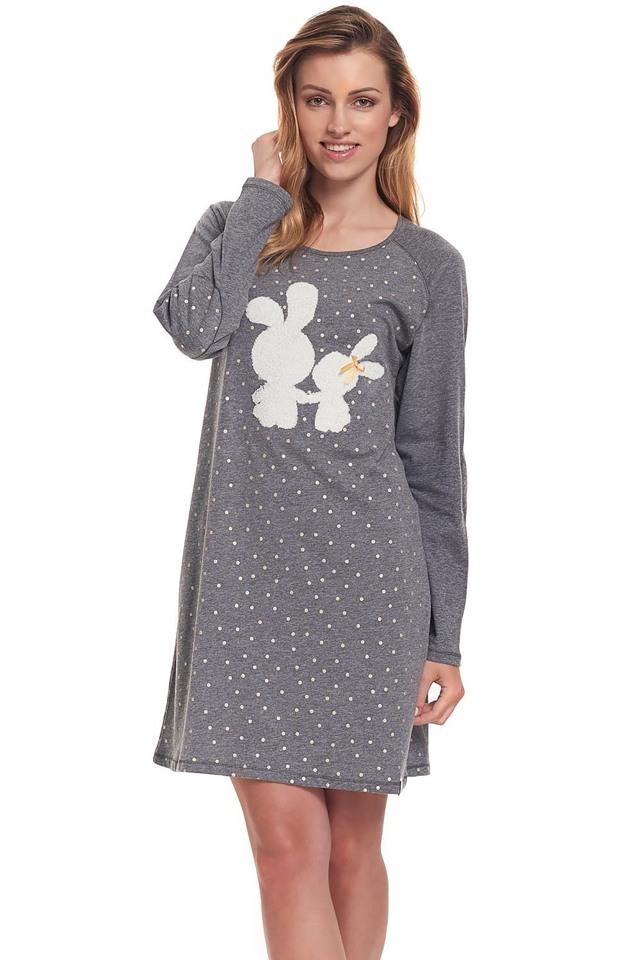 Dámská noční košile Dn-nightwear TM.9334 - S - dark grey