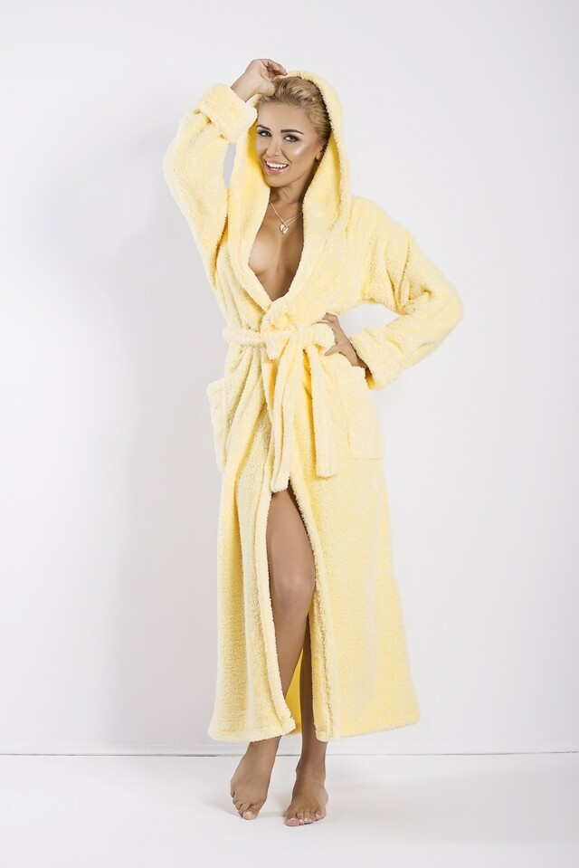 Dámský župan Diana long yellow - L - žlutá