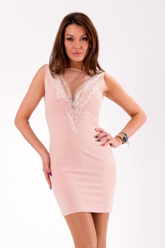 d68f829b0422 Světle růžové šaty SOKY SOKA 46017-1 - M