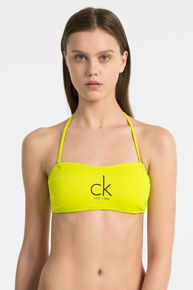 Vrchní díl plavek KW0KW00203-311 žlutá - Calvin Klein