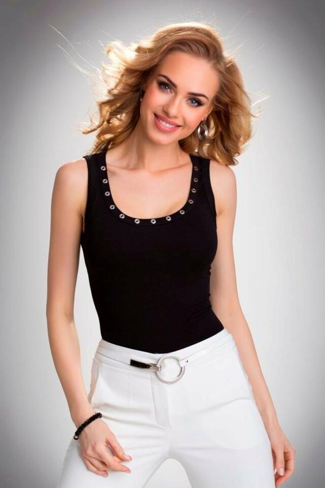 Dámská košilka Kasandra black - XL - černá