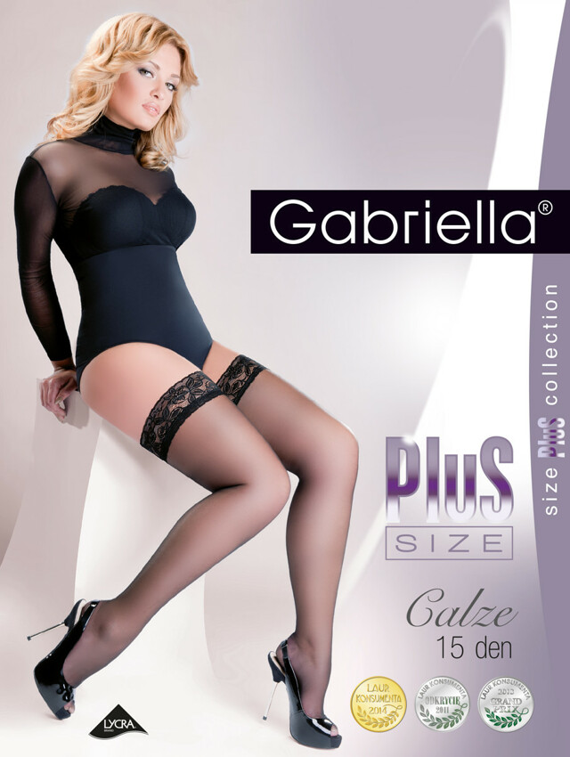 Punčochy Gabriella Plus Size 164 5-6 15 den - 5/6-XL/XXL - černá