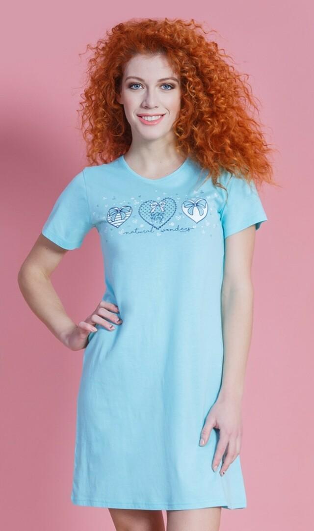 Dámská noční košile s krátkým rukávem Sabrina - šedá S