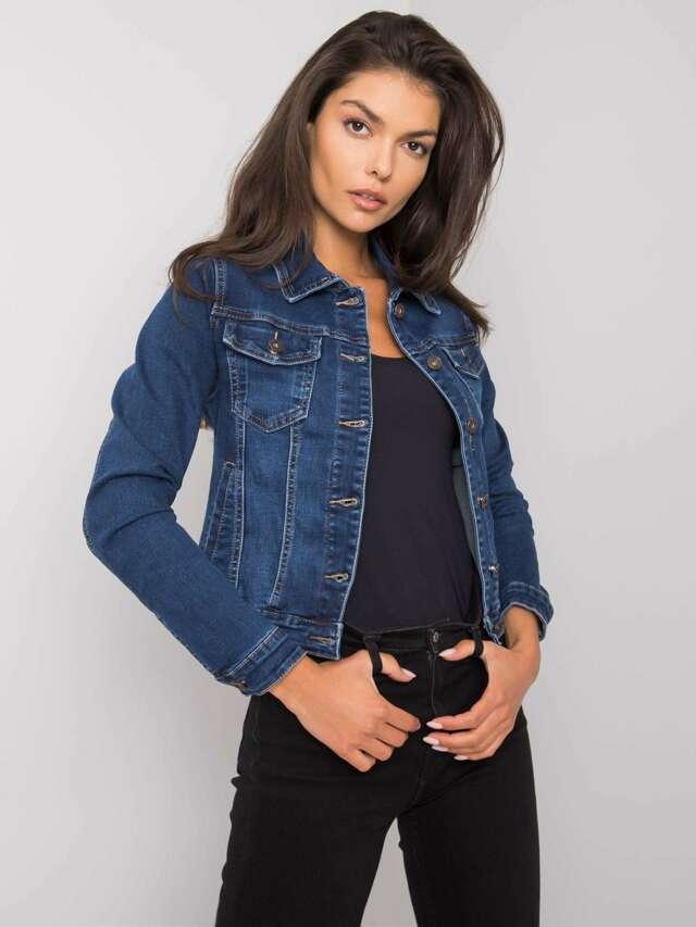 Modrá krátká džínová bunda - M