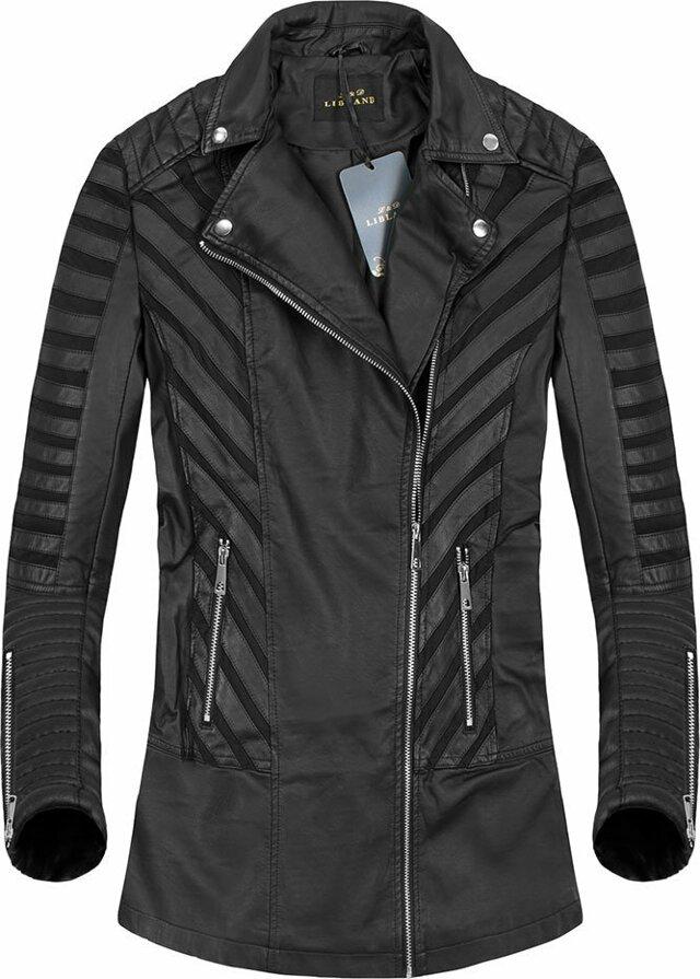 Černá delší bunda se vsadkami (5255) - S (36) - černá
