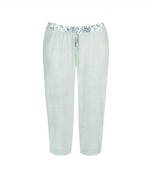 Dámské pyžamové kalhoty Mix and Match SS17 Trousers Capri - Triumph - 042 - pepermintově zelená (00GF)