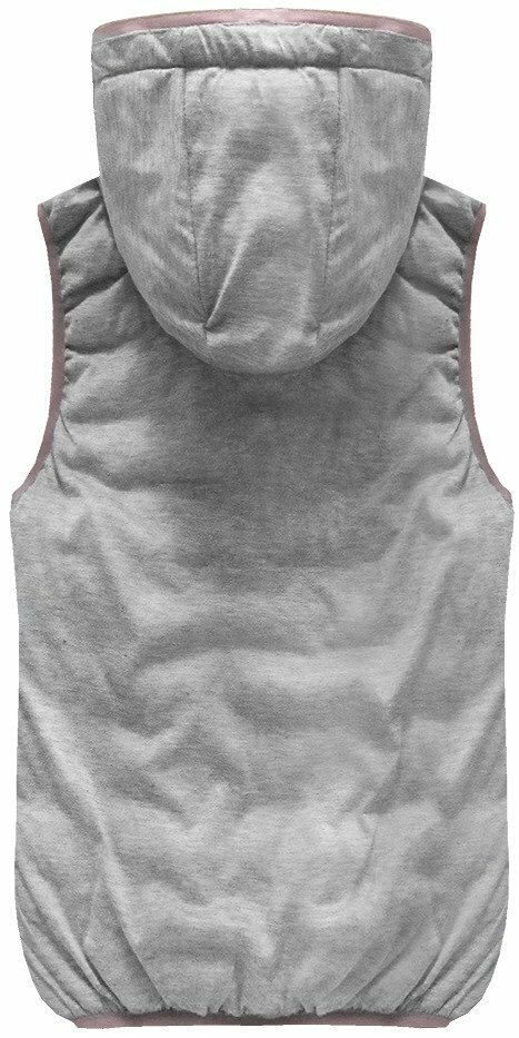 f11b0f77a7e5 Oboustranná vesta ve starorůžové barvě s kapucí (B1002)(1065020) - 4