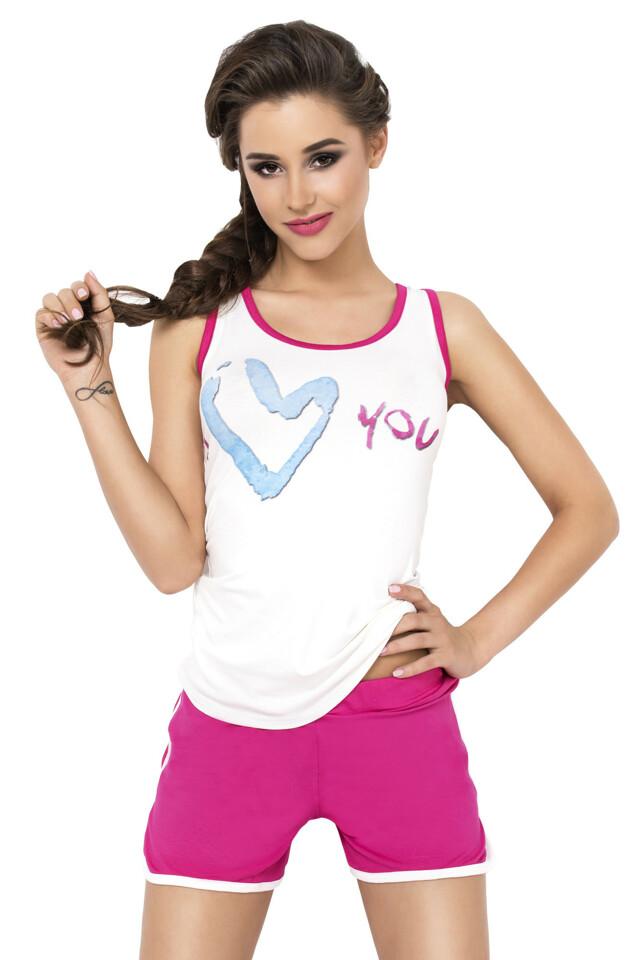 Dámské pyžamo Alisa růžové - L
