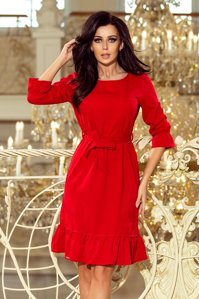 Dámské šaty 193-6 - L - červená