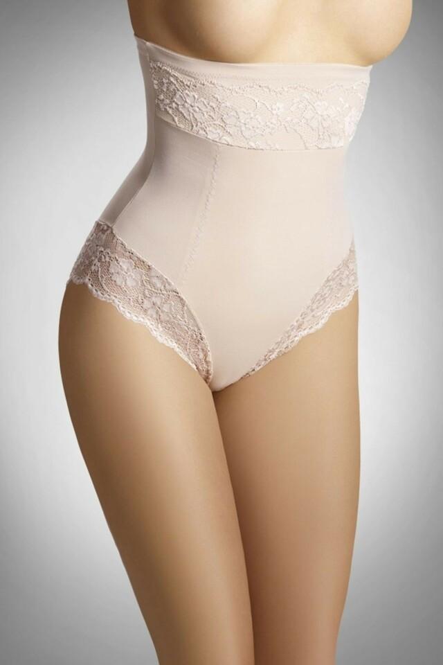 Stahovací kalhotky Valeria beige - L - béžová