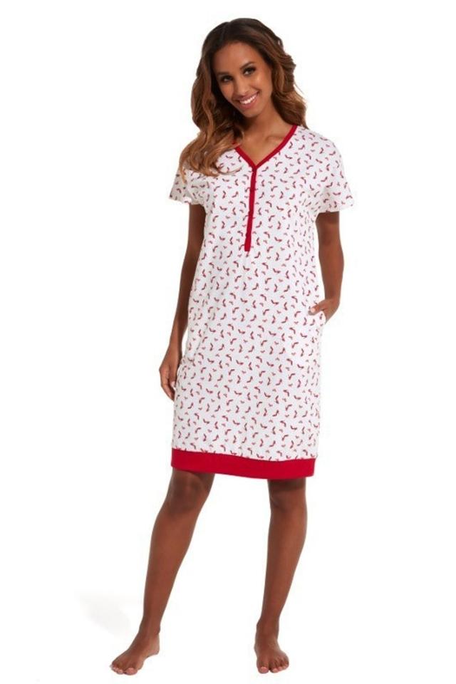 Noční košile 637/149 Red Shoes - M - krémová