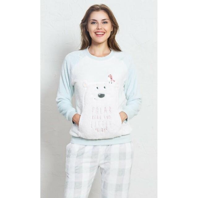 Dámské pyžamo Polar bear 1602333380 - Vienetta - L - smetanová