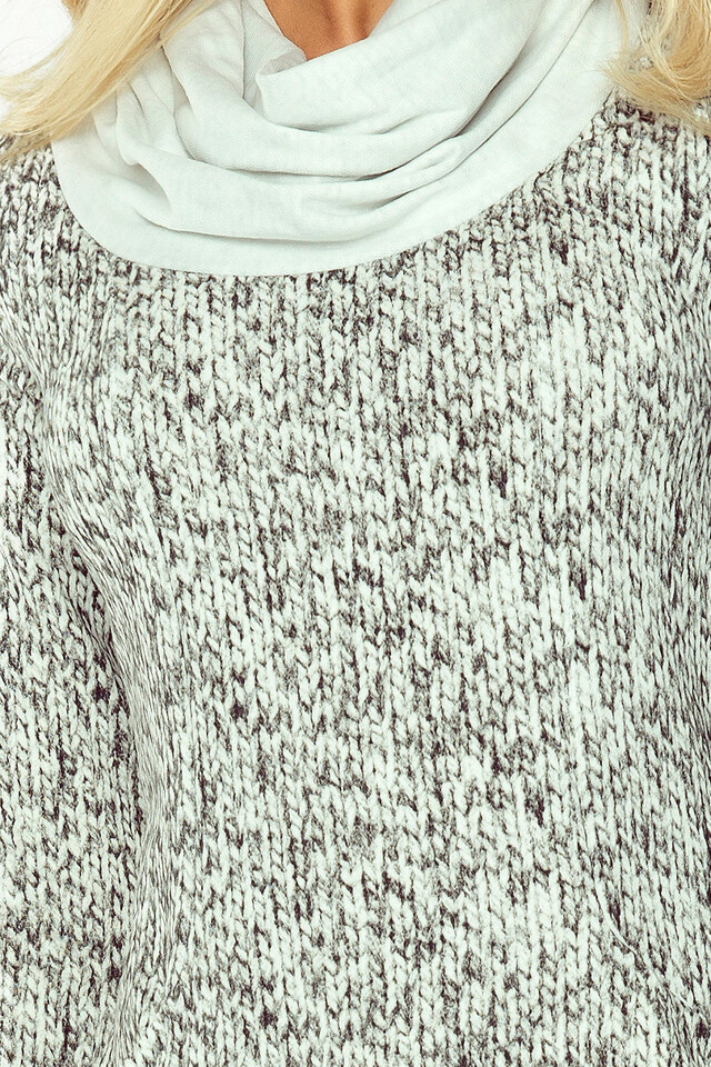 ac387793c467 Svetrové šaty s rolákem a velkými kapsami 119-2(532355) - 5