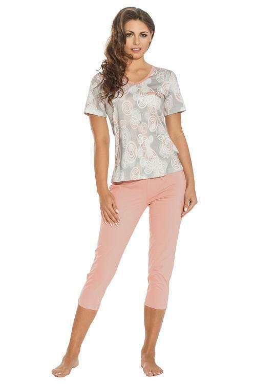 Dámské pyžamo Luna 647-2 - XL - lososová