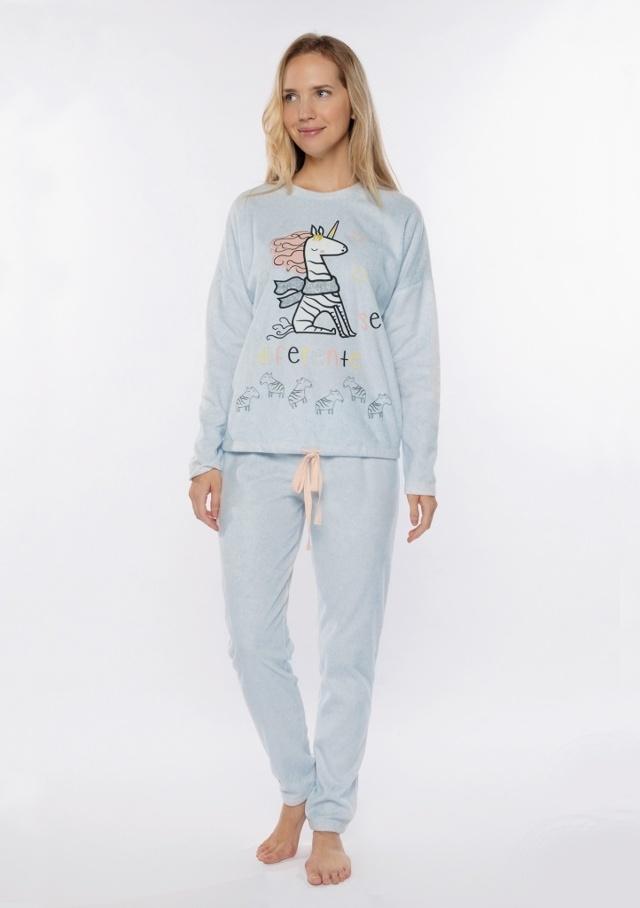 Dámské pyžamo Muydemi 210203 - S - Sv. modrá