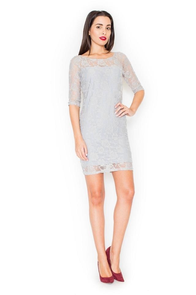 Dámské šaty K109 grey - XL - šedá