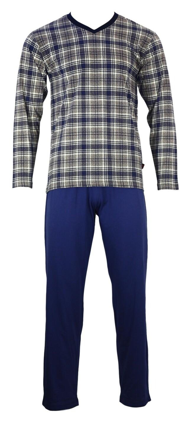 Pánské pyžamo Karono V DR - Favab - M - modrá/bílá