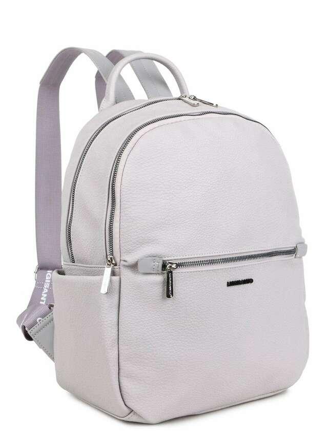 Šedý dámský batoh LUIGISANTO vyrobený z ekokože - jedna velikost