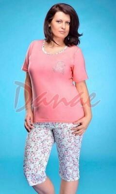 Dámské pyžamo Magda - Taro - S - tmavě růžová