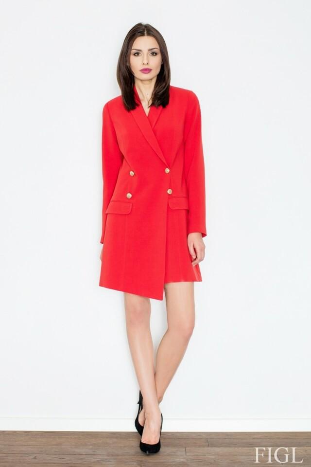 Dámské šaty M447 red - L - červená
