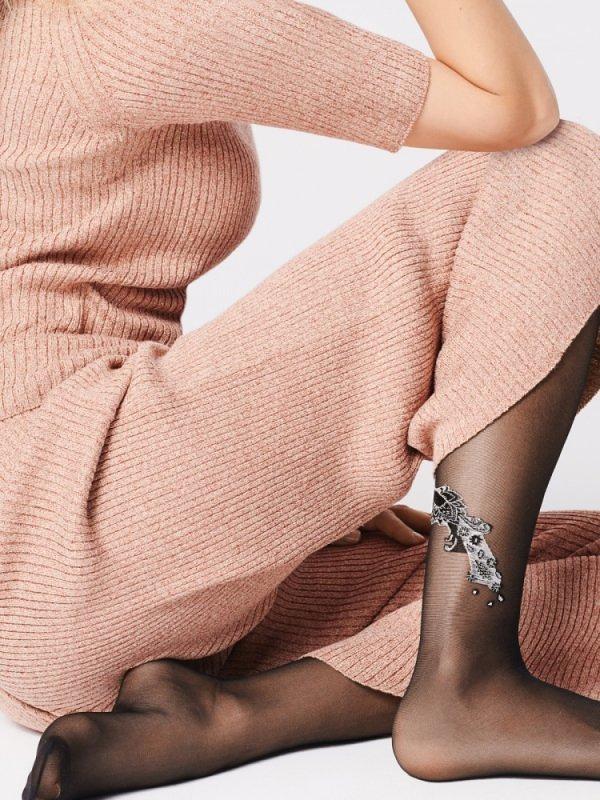 Dámské punčochové kalhoty Fiore G 5896 Pavone 20 den - 4-L - černá