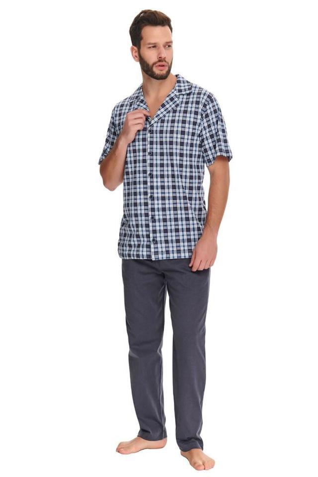 Pánské pyžamo Noah kárované - XL