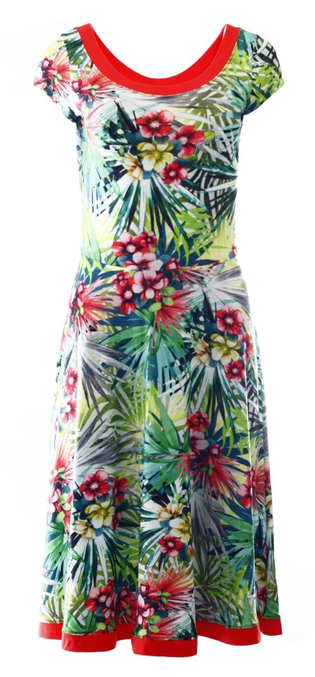 Dámské šaty 6269 - Vamp - L - květinový vzor