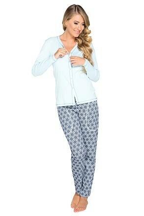 Dámské pyžamo Hortenzie modré - XL