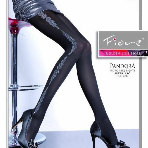 Dámské punčochové kalhoty Pandora G 5281 - Fiore - 2 - černá