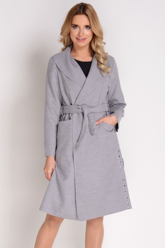 Dámský kabát Avaro PA-12 - UNI - šedá
