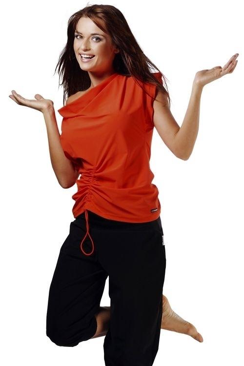 Fitness tričko Atena III orange - S - oranžová