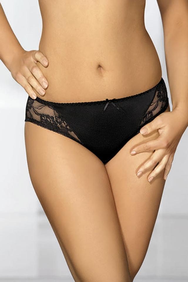 Dámské kalhotky 1261 plus black - XXL - černá