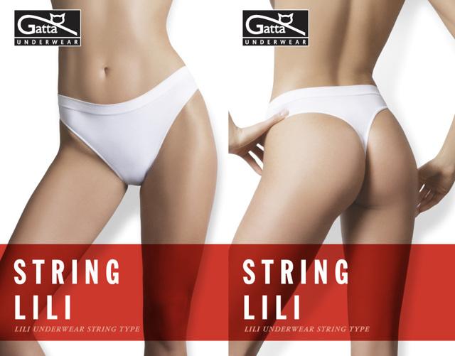 Tanga String Lili - Gatta - XL - bílá
