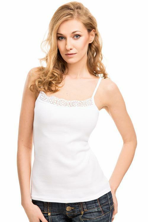Spodní košilka Violana Kenya white - ramínka - XXL - bílá