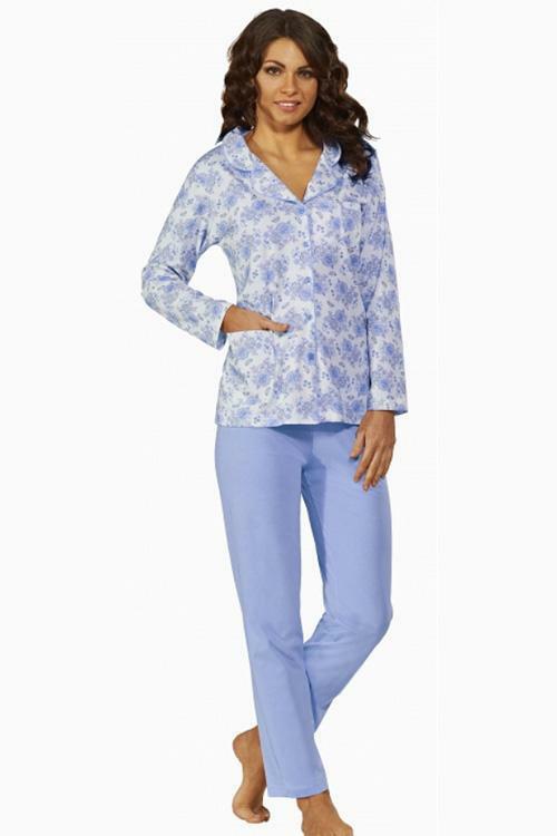 Dámské pyžamo Luna 524-3-3XL - 3XL - modrá