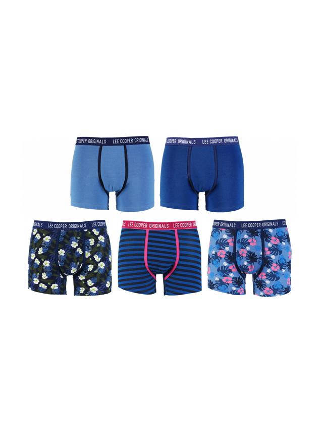 Pánské boxerky 34257 Flowers - Lee Cooper - L - modrá-proužek